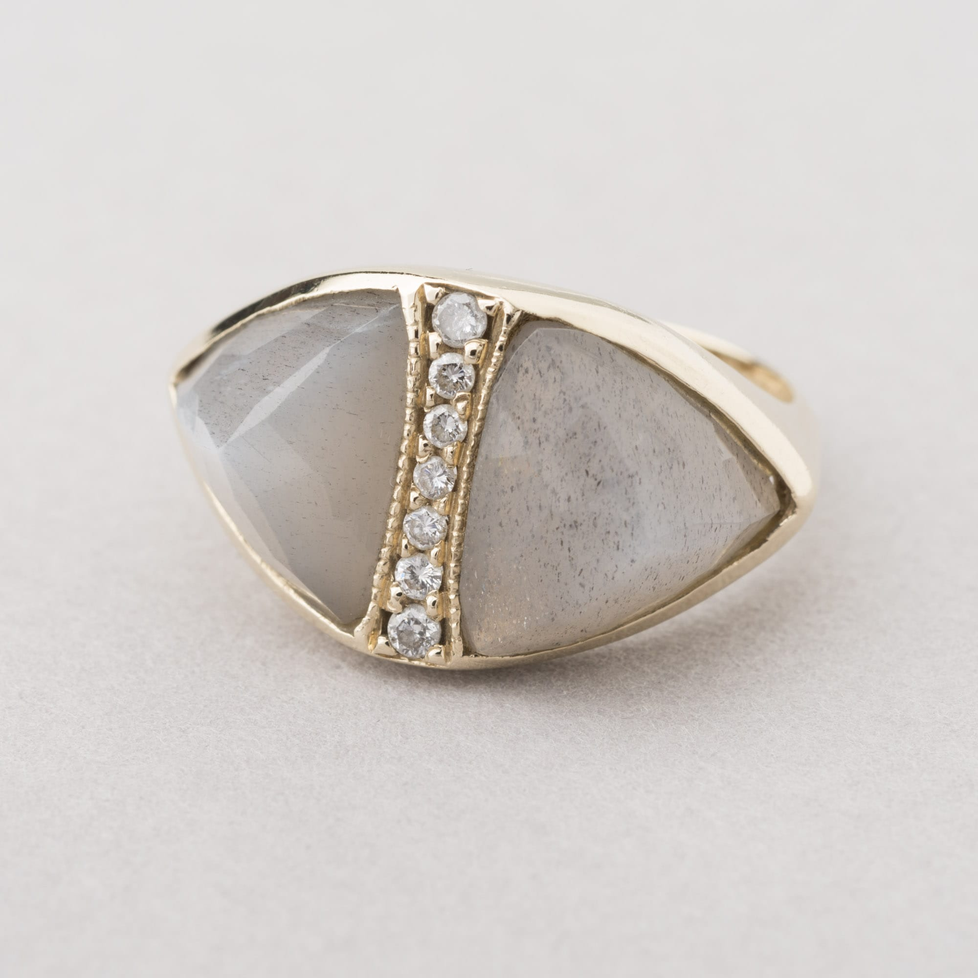 ja product front double ls moonstone jacquie rings grey aiche ring triangle lockstock